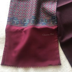 Christian Dior Silk Wool Scarf